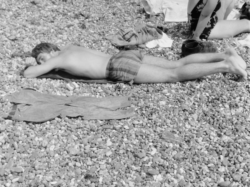 Am Strand von Brighton, 1969