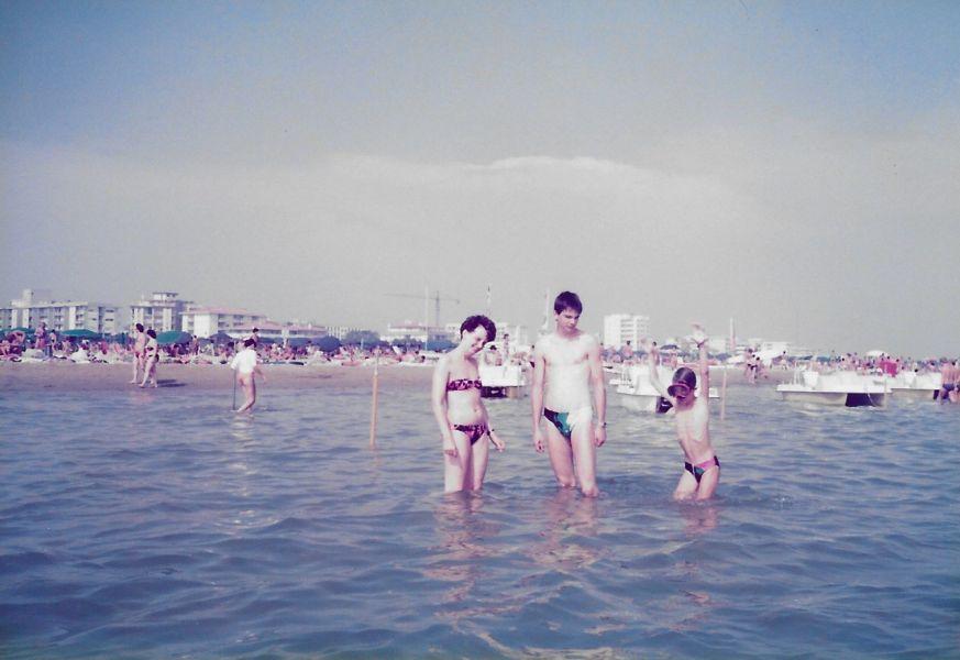 Bibione 1991 - Anni, Thomas, Martin