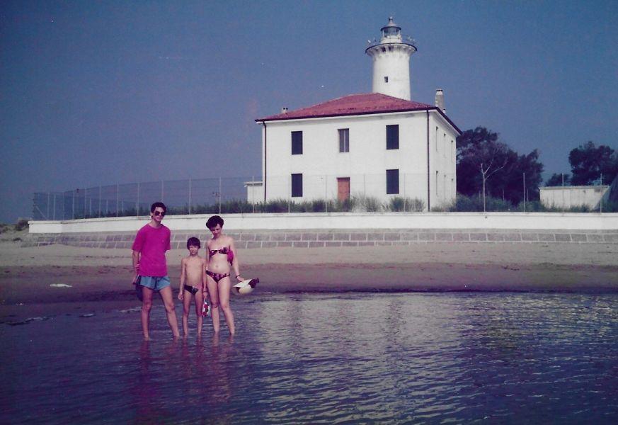 Bibione 1991 - beim Leuchtturm