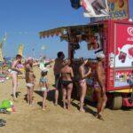 Verköstigung am Strand