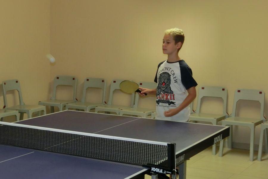 Beim Ping-Pong-Spiel