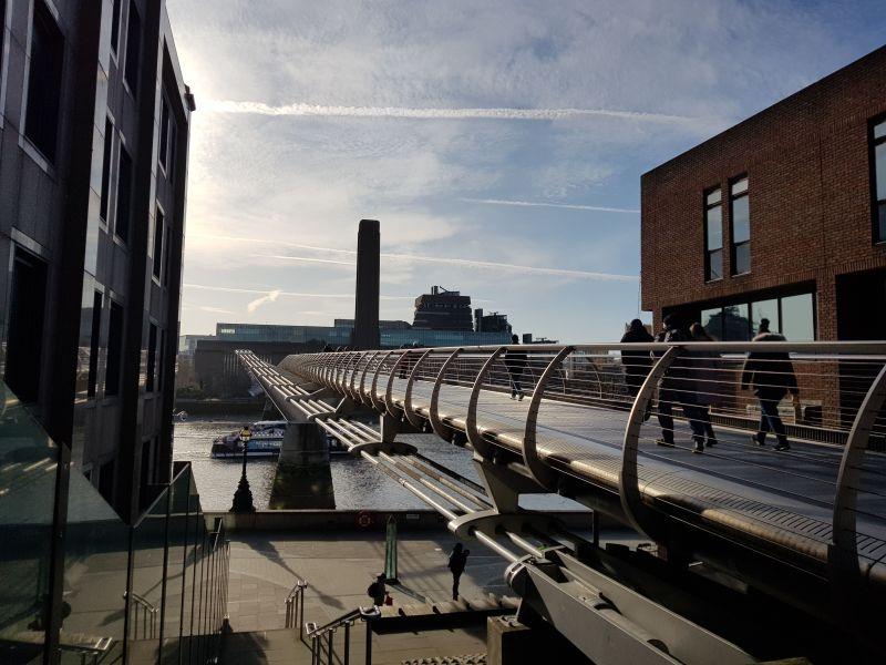 Millenium Bridge - Richtung 'Tate Modern'